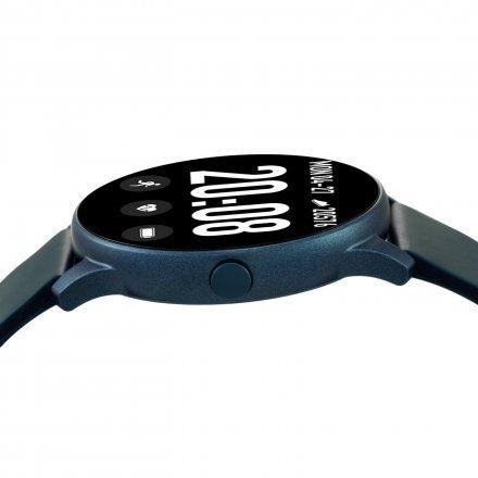 Granatowy smartwatch męski damski Rubicon RNCE40DIBX01AX