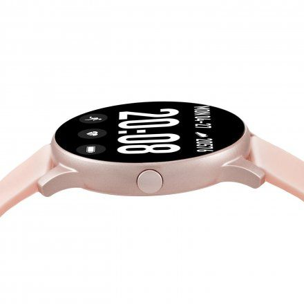 Różowy smartwatch damski Rubicon RNCE40RIBX01AX