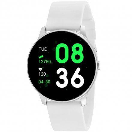Biały smartwatch damski męski Rubicon RNCE40SIBX01AX