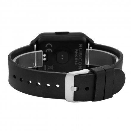 Czarny smartwatch męski damski Rubicon RNCE42BIBX01AX