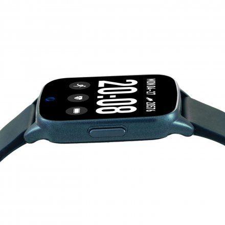 Granatowy smartwatch męski damski Rubicon RNCE42DIBX01AX