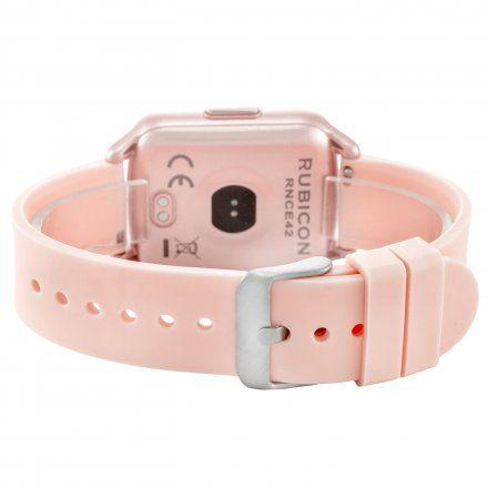 Różowy smartwatch damski Rubicon RNCE42RIBX01AX