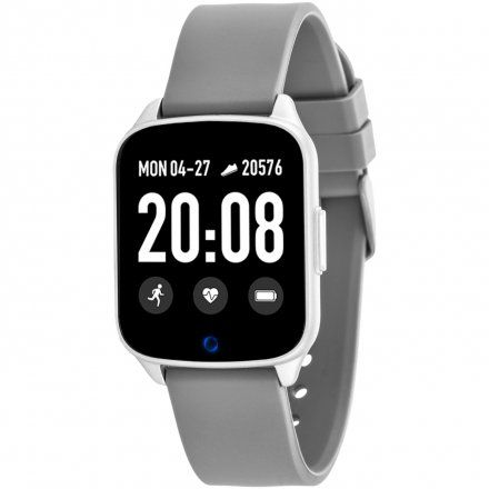 Szary smartwatch męski damski Rubicon RNCE42SIBX01AX