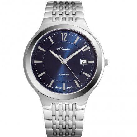 Zegarek Męski Adriatica na bransolecie A8296.5155Q - Zegarek Kwarcowy Swiss Made
