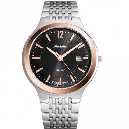 Zegarek Męski Adriatica na bransolecie A8296.R156Q - Zegarek Kwarcowy Swiss Made
