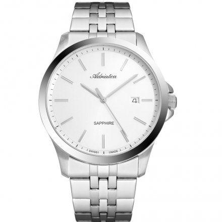 Zegarek Męski Adriatica na bransolecie A8303.5113Q - Zegarek Kwarcowy Swiss Made