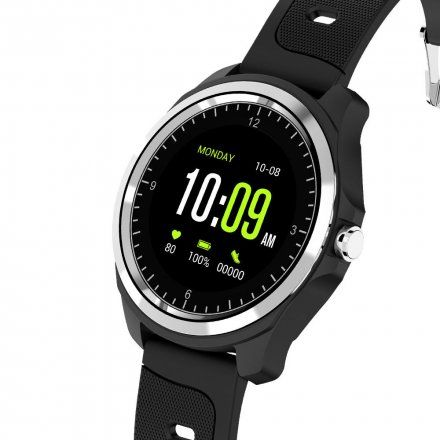 Czarny smartwatch męski Rubicon RNCE44TIBX01AX Rozmowy Bluetooth
