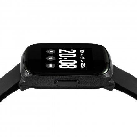 Czarny smartwatch męski damski Rubicon RNCE38BIBX03AX