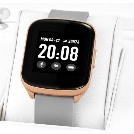 Szary smartwatch damski męski Rubicon RNCE38RIBX03AX