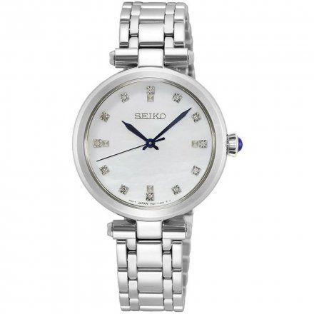 Seiko SRZ529P1 Zegarek Damski srebrny z Diamentami