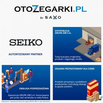 Seiko SUR301P1 Zegarek Męski Classic