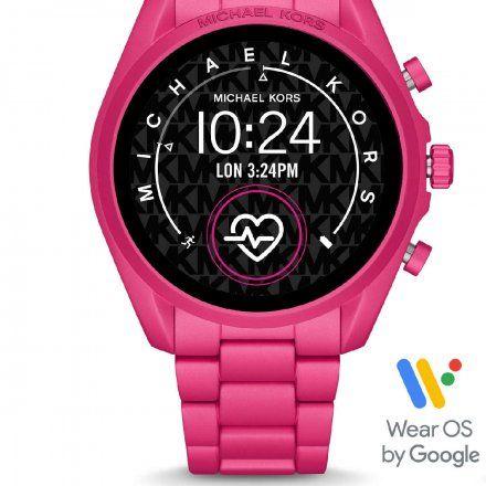 Różowy Smartwatch Michael Kors 5 GEN MKT5099 BRADSHAW 2.0