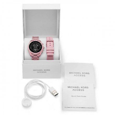 Różowy Smartwatch Michael Kors 5 GEN MKT5098 BRADSHAW 2.0