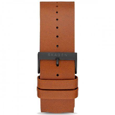 Pasek skórzany brązowy 22 mm Skagen Smartwatch SKT5201