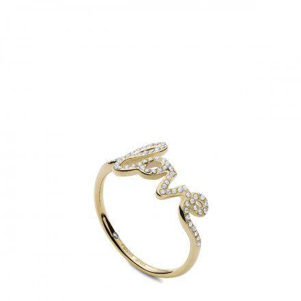 FOSSIL Złoty pierścionek damski LOVE JF03345710 r.10