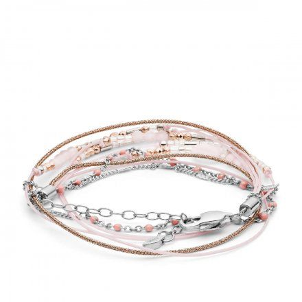 FOSSIL Różowa bransoletka damska JF03358998