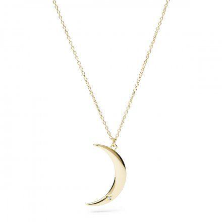 FOSSIL Złoty naszyjnik damski księżyc JF03379710