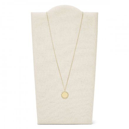 FOSSIL Złoty naszyjnik damski słońce JF03380710