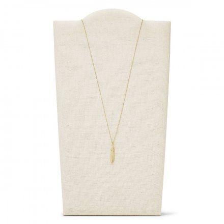 FOSSIL Złoty naszyjnik damski piórko JF03381710