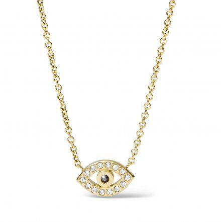 FOSSIL Złoty naszyjnik damski oko JF03382710