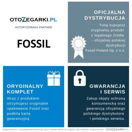 FOSSIL Srebrna Bransoletka Męska JF03392040