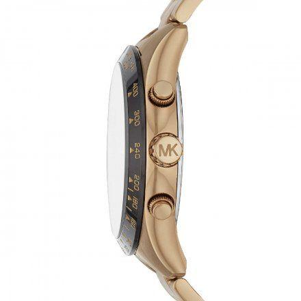 MK8783 Zegarek Męski Michael Kors Layton złoty z czarną tarczą