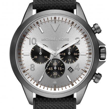 MK8787 Zegarek Męski Michael Kors Gage szary z czarnym paskiem