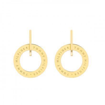 Biżuteria Tommy Hilfiger Damskie Kolczyki Złote 2780318