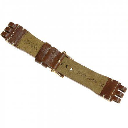Pasek do zegarka Vostok Europe Energia 3  Skórzany B281 brązowy błyszcza złota klamra