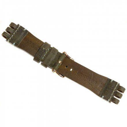 Pasek do zegarka Vostok Europe Energia 3  Skórzany O285 brązowy błyszcza złota klamra