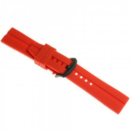 Pasek do zegarka Vostok Europe Almaz  Silikonowy C260 Czerwony Czarna matowa klamra