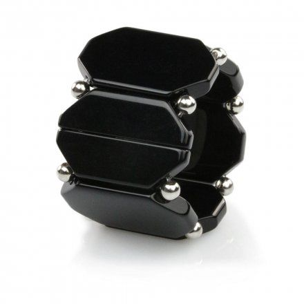 Bransoleta S.T.A.M.P.S. Belta Bead Black Silver 104891 4200