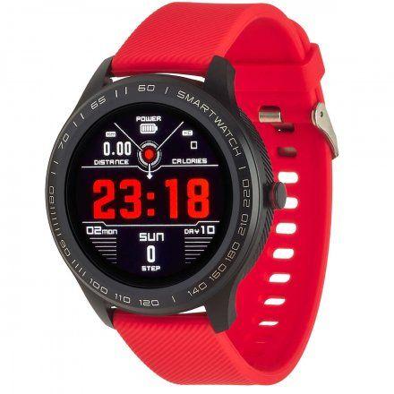 Smartwatch Garett Men 3S czerwony z paskiem