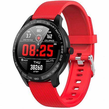 Smartwatch Garett Men 3S RT czerwony z paskiem