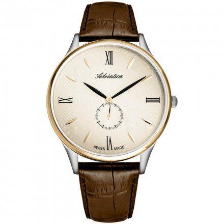 Zegarek Męski Adriatica na pasku A1230.2261QXL - Zegarek Kwarcowy Swiss Made