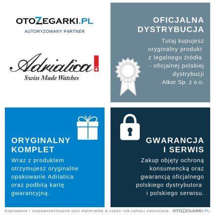 Zegarek męski Adriatica A1290.5165Q  Zegarek Kwarcowy Swiss Made