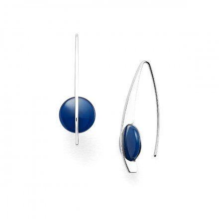 Biżuteria Skagen Kolczyki damskie SKJ1293040 Cobalt Glass