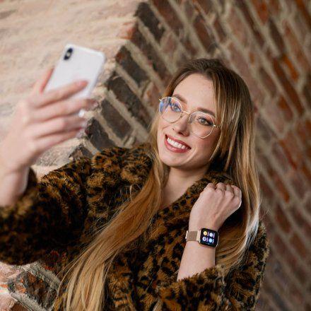 Smartwatch Garett Women Eva RT złoty z bransoletą