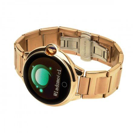 Smartwatch Garett Women Karen złoty z bransoletą