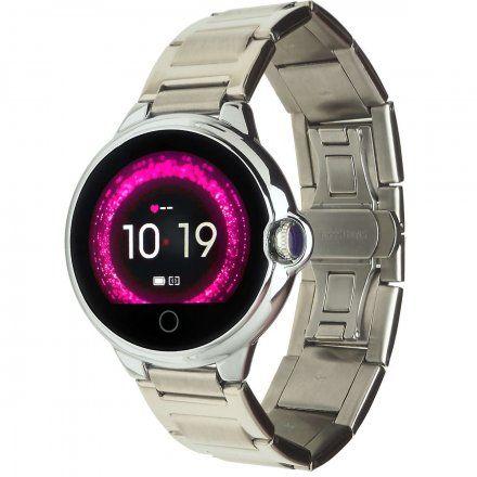 Smartwatch Garett Women Karen RT srebrny z bransoletą