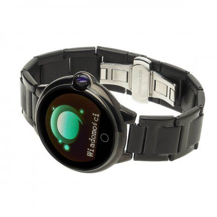 Smartwatch Garett Women Karen czarny z bransoletą