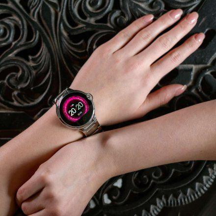 Smartwatch Garett Women Karen RT czarny z paskiem skórzanym
