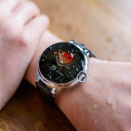 Smartwatch Garett Women Karen RT brązowy z paskiem skórzanym