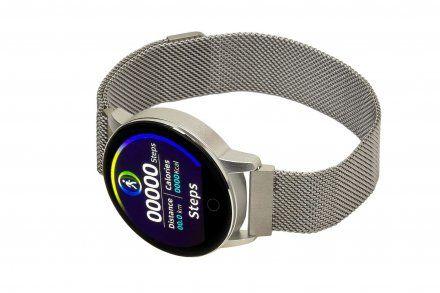 Smartwatch Garett Lady Bella srebrny z bransoletą