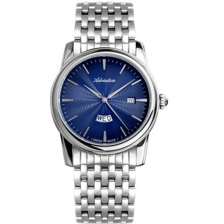 Zegarek Męski Adriatica na bransolecie A8194.5115Q - Zegarek Kwarcowy Swiss Made