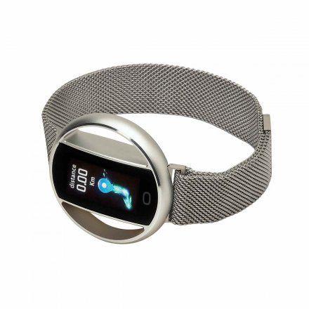 Smartwatch Garett Women Nicole srebrny z bransoletą