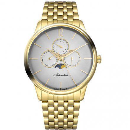 Zegarek Męski Adriatica na bransolecie A8269.1157QF - Multifunction Swiss Made