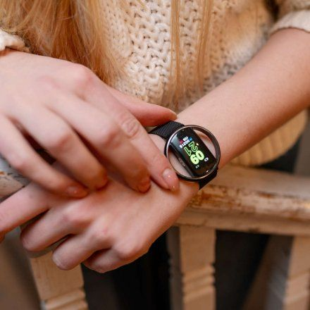 Smartwatch Garett Women Nicole RT srebrny z paskiem
