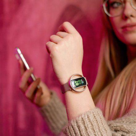 Smartwatch Garett Women Nicole RT czarny z bransoletą