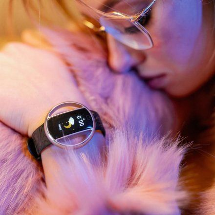 Smartwatch Garett Women Nicole RT czarny z paskiem